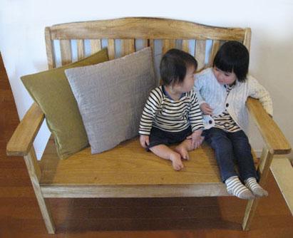 オーダーメイド木製品:ベンチ椅子