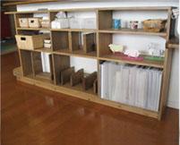 オーダーメイド木製品:飾り棚